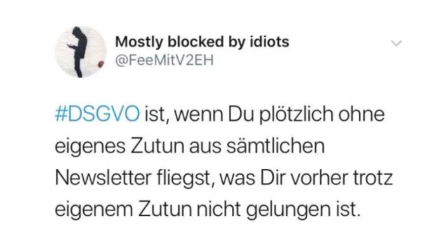 DSGVO Witz auf Twitter. #madeforlive
