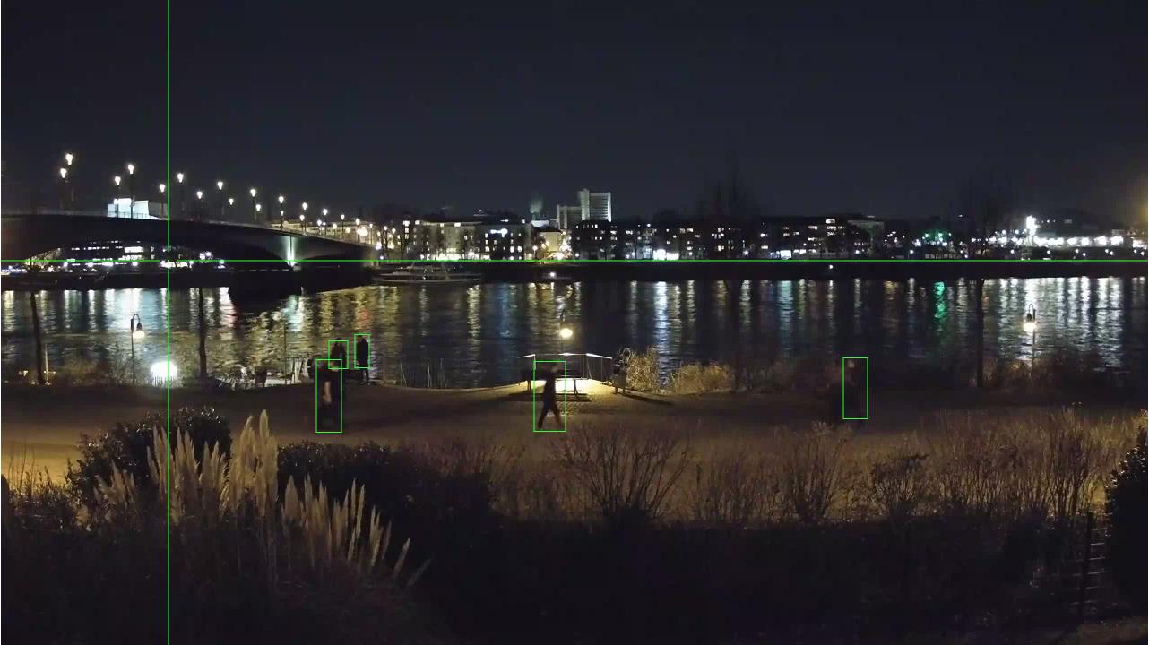 Deep Learning für Webcams funktioniert auch bei Nacht.