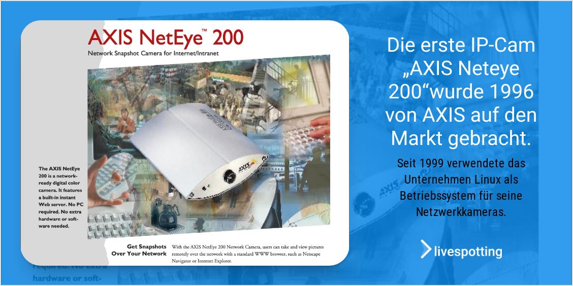Die erste Netzwerkkamera von AXIS COMMUNICATIONS konnte kein H264.