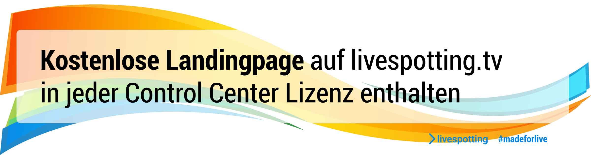 Ein Banner mit der Information, dass bei dem Webcam Provider mit Videohosting für Livestreaming eine eigene Webseite auf livespotting.tv freigeschaltet wird.