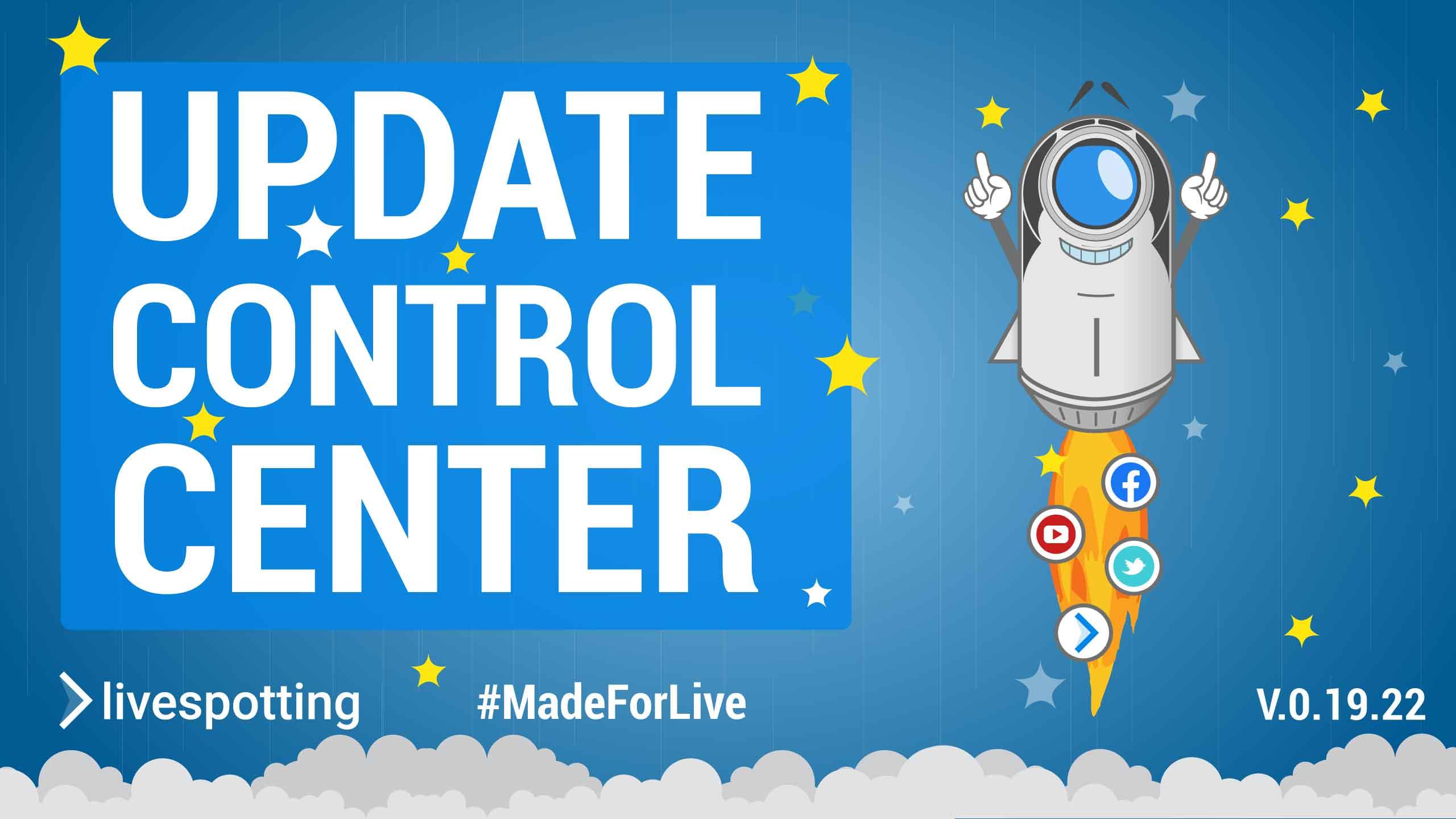 Control Center Version 0.19.22 ist live - Neue Funktionen im Überblick