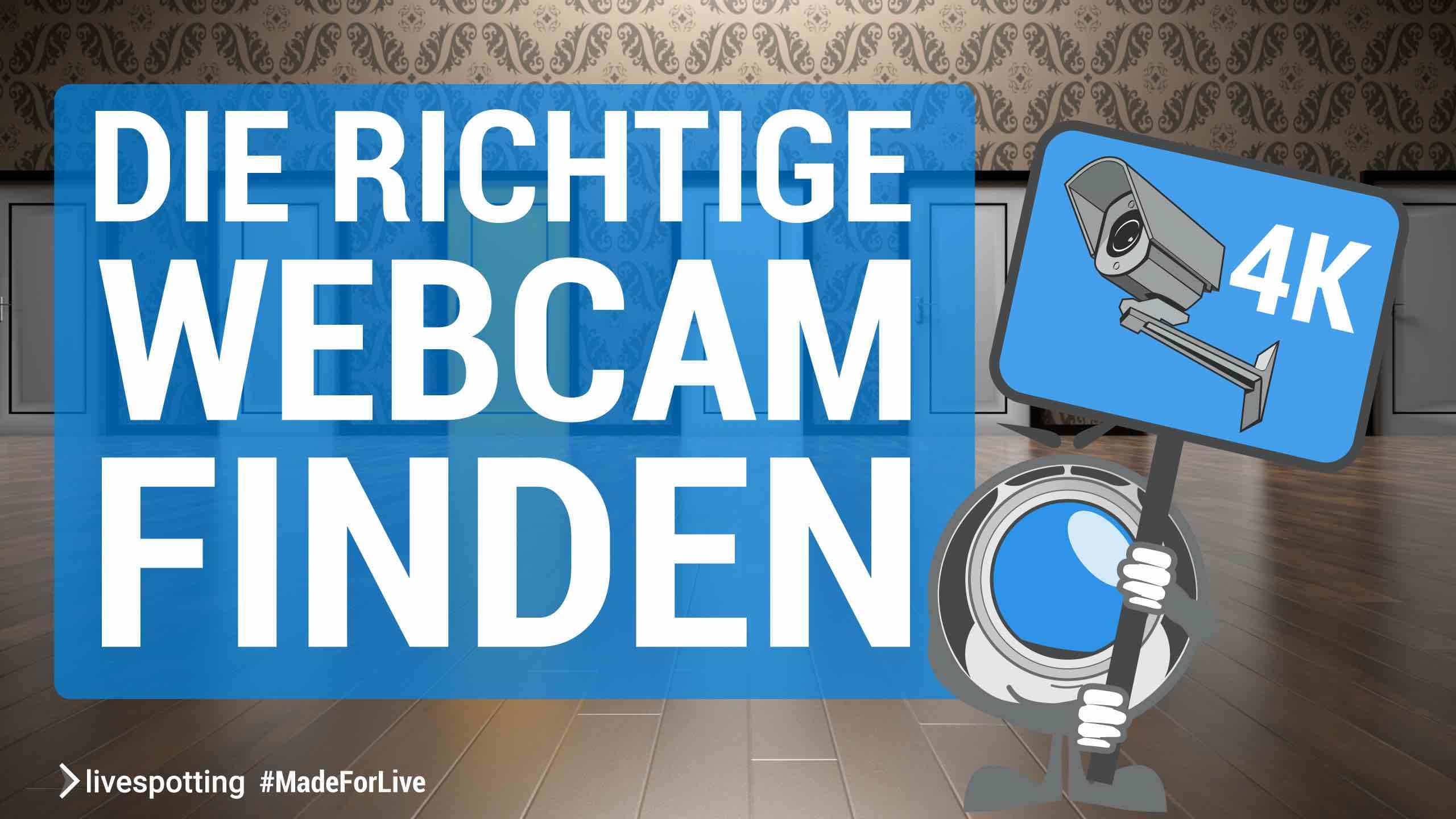 Die richtige Livecam für die  Webseite finden!