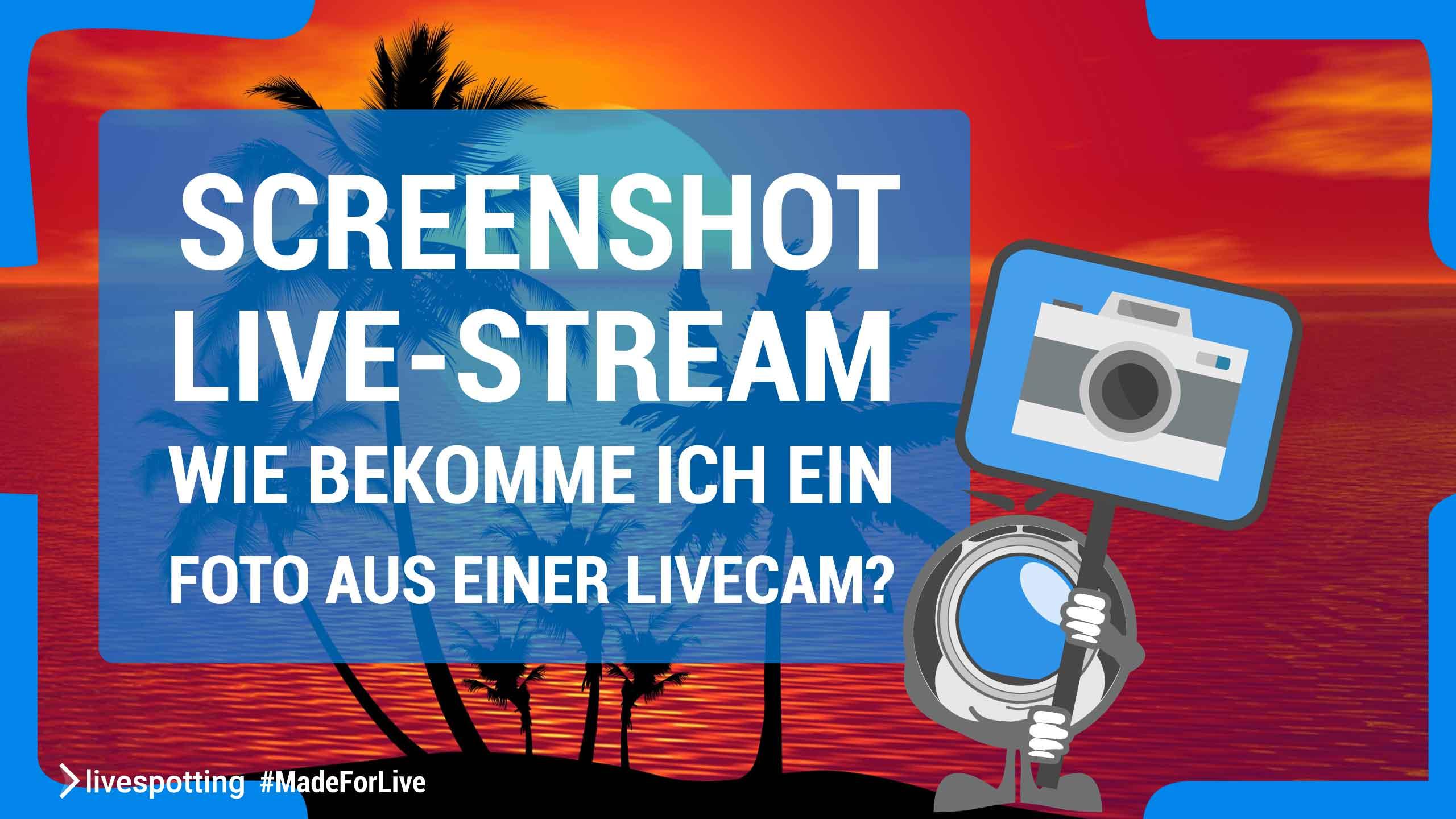 Wie nehme ich einen Screenshot aus einem Live-Stream auf?