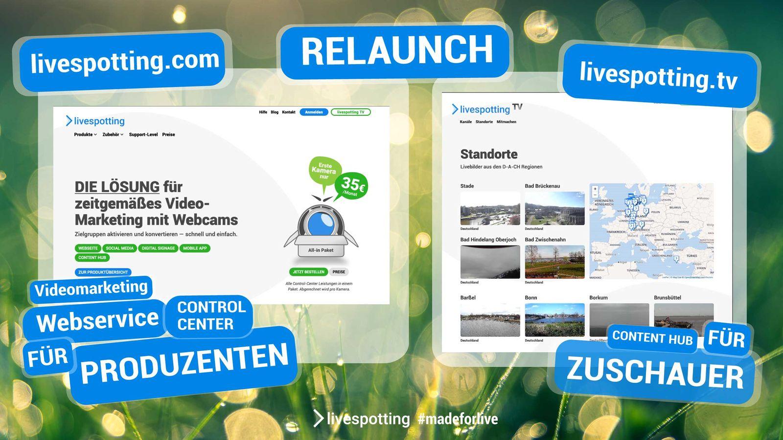 Neue Webseite livespotting.com und Hausmarke livespotting.tv