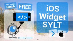 Open-Source-Software im Einsatz! Ein kostenloses Homescreen-Widget für iOS, das livespotting Webcams von Sylt anzeigt.