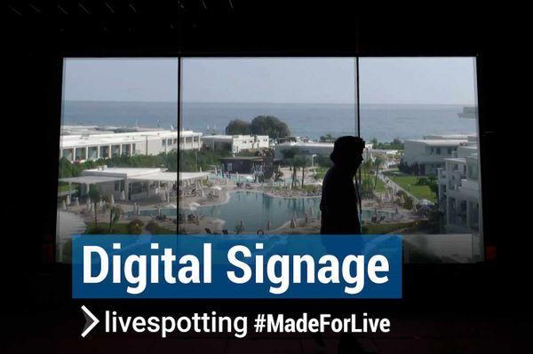 Nutzen Sie Ihren Live-Stream für Aussendisplays und Infosysteme.
