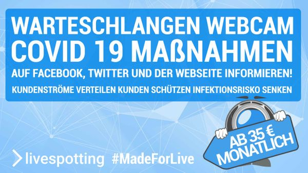 Warteschlangen Live-Streaming COVID-19 Update